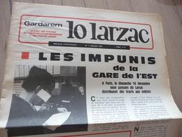 Journal Larzac Défense Du Larzac Gardarem  Lo Larzac N°7 Janvier  1976 - Languedoc-Roussillon