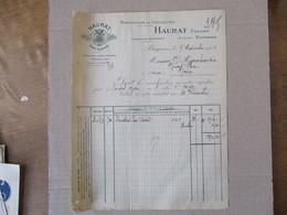 ANGLET-BAYONNE HAURAT FRERES MANUFACTURE DE CHAUSSURES USINE DE BLANCPIGNON FACTURE DU 7 NOVEMBRE 1924 - Frankreich