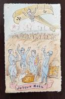 MILITARIA: JOYEUX NOEL Carte Voyagée 1915 - Humour