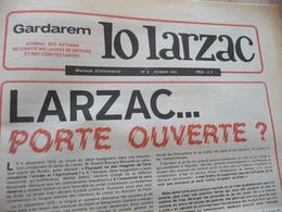 Journal Larzac Défense Du Larzac Gardarem  Lo Larzac N°8 Février 1976 - Languedoc-Roussillon