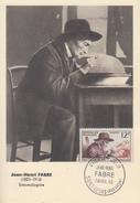 Carte  Maximum  1er  Jour   FRANCE    Jean  Henri   FABRE     SAINT  LEONS    1956 - 1950-59