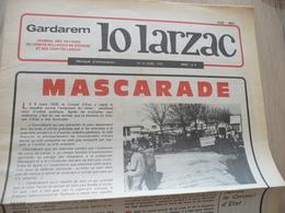 Journal Larzac Défense Du Larzac Gardarem  Lo Larzac N°10 Avril 1976 - Languedoc-Roussillon