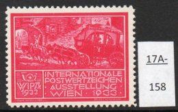 Austria 1933 WIPA Poster Stamp Reklamemarke MNH : Cerise-Red : Mail Coach Postkutsche Cheval Chevaux - 1918-1945 1st Republic