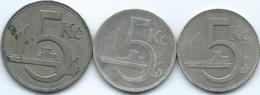 Czechoslovakia - 5 Korun - 1925 (KM10) 1930 (KM11) & 1938 (KM11a) - Tchécoslovaquie