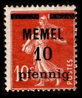 1922 Memel - Colony: Kiauchau
