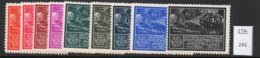 Austria 1933 WIPA Reklamemarke MNH : Nine Different Colours :  Postkutsche Mail Coach Horses Pferde Chevaux - 1918-1945 1st Republic
