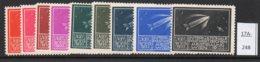 Austria 1933 WIPA Reklamemarke MNH: 9 Different Colours: Rocket Mail Fusée Raketenpost Solar System Planet Saturn - 1918-1945 1st Republic