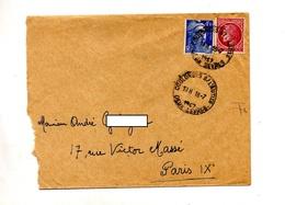 Lettre Cachet Coulonges Sur L'autize Sur Ceres Gandon - Storia Postale