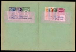 Ethiopia 1947 UPU Delegate Paris Congress Souvenir Folder With Two MNH Commem Sets – See Text. - Ethiopia