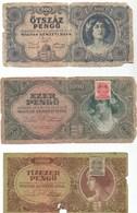 Banknotes Lot. Hungary, Austria, Iraq, Russia / Total 9 Piece - Bankbiljetten
