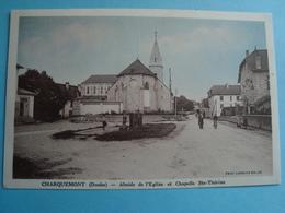 25 - Charquemont - Abside De L'église Et Chapelle Sainte Thérèse - 1939 - Other Municipalities