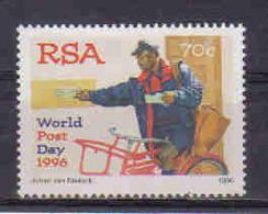 S. Africa 1996 World Post Day Y.T. 923 ** - Südafrika (1961-...)