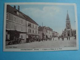 25 - Charquemont - L'église Et L'hôtel De La Poste - 1939 - Other Municipalities