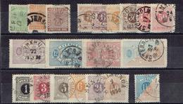 TP - SUEDE - N° Poste 6-9-10-16-19-22-23-24 + Service 4-6-7-11 + Taxe 1-2-3-4-7-9-10 - De 1858 - OB. - Oblitérés