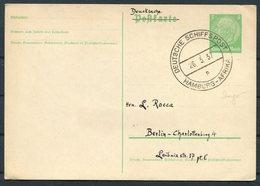 1937 Germany Deutsche Schiffspost Ship Stationery Postcard. Hamburg - Afrika INGO - Briefe U. Dokumente