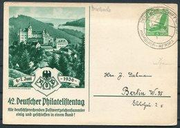 1936 Germany Deutsche Schiffspost Ship Stationery Postcard. Hamburg - Afrika WOLFRAM - Briefe U. Dokumente