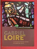 CHARTRES GABRIEL LOIRE 2014 FONDS D ATELIER VITRAIL EN DALLE DE VERRE MUSEE DU VERRE DE CONCHES CARTE EN TRES BON ETAT - Chartres