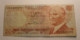 1970 - Turquie - Turkey - 20 TURK LIRASI - 14 OCAK 1970 - E83 305076 - Turquie