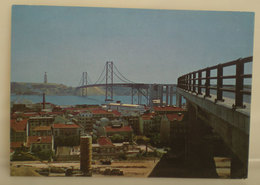 Lisbona Ponte Salazar Tejo CARTOLINA Viaggiata 1966 - Lisboa