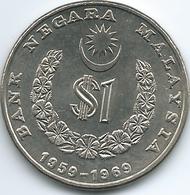 Malaysia - 1 Ringgit - 1969 - 10th Anniversary Of The National Bank - KM7 - Malaysia