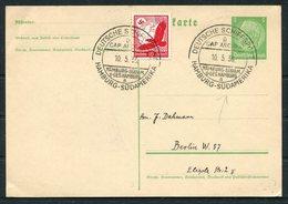 1936 Germany Deutsche Schiffspost Ship Stationery Postcard. Hamburg - Sud Amerika D. CAP ANCONA - Deutschland