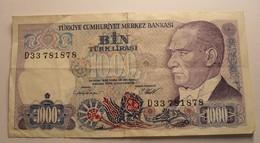 1970 - Turquie - Turkey - 1000 LIRASI - 14 OCAK 1970 - D33 781878 - Turquie