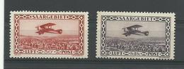 Sarre 1928 P.A. 1/2  Neufs**  MNH Cote YT: 31€ - Poste Aérienne