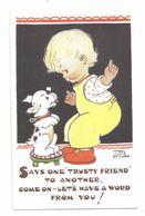 MABEL LUCIE ATTWELL ART DRAWN CARD No.5318 CHILDREN - Attwell, M. L.