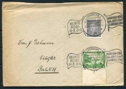 1934 Germany Deutsche Schiffspost Ship Cover. Hamburg - Sud Amerika MONTE ROSA. - Briefe U. Dokumente