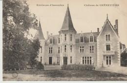 C.P.A. -  ENVIRONS D'ISSOUDUN - CHÂTEAU DE CHÈNEVIÈRE - ÉCRITE PAR LA COMTESSE DE CHÈNEVIÈRE EN 1909 - Issoudun