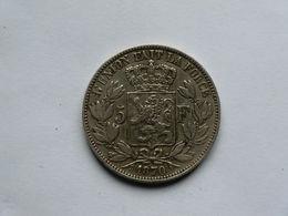 Monnaie De Belgique - 5 Francs Léopold II Roi De Belges Argent 1870 - 1865-1909: Leopold II