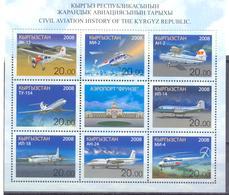 2008. Kyrgyzstan, Civil Aviation, Issue I, Sheetlet, Mint/** - Kirgisistan