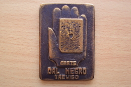 ITALIA ITALY PLATE PLACCA CM 8X5,5 GRAMMI 125 - CARTE DA GIOCO DAL NEGRO TREVISO PROVA REGIONALE VIGILI URBANI CICLISMO - Italia