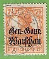 MiNr.9 O  Deutschland Deutsche Besetzg,1.WK Gen.-Gouv.Warschau - Occupazione 1914 – 18