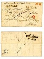PREFILATELICA DA VARALLO A MILANO 1847 TIMBRI PATENZA E ARRIVO PIU' P.D. E C. (6/46) - Italien
