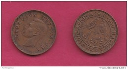 SOUTH AFRICA, 1951, 1 Off Nicely Circulated Coin 1/4 Penny George VI, C1382 - Zuid-Afrika