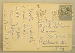 1971 Storia Postale Portogallo 25 Anos Marinha Mercante  CARTOLINA Sintra Per Italia - Storia Postale
