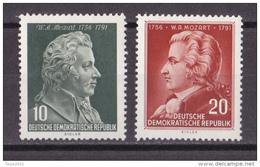 Wib_ DDR - Mi.Nr. 510 - 511 - Postfrisch MNH - Mozart - DDR
