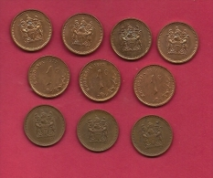 RHODESIA, 1977, 10 Off, Nicely Used Coins 1 Cents KM1, C2738 - Rhodesia