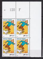 N° 3303 Fête Du Timbre Hergé Moulinsart 2000: Bloc De 4 Timbres Neuf Impeccable - France
