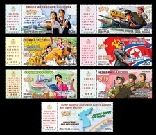 North Korea 2019 Mih. 6546/52 New Year Address. Locomotive. Music. Flags. Basketball. Army MNH ** - Corée Du Nord