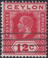 Ceylon     .   SG  .   347       .    O   .      Cancelled    .   /    .    Gebruikt - Ceylon (...-1947)