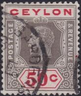 Ceylon     .   SG  .   353a  Die I  ( 2 Scans )       .    O   .      Cancelled    .   /    .    Gebruikt - Ceylon (...-1947)