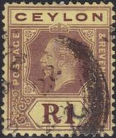 Ceylon     .   SG  .   354  Die I        .    O   .      Cancelled    .   /    .    Gebruikt - Ceylon (...-1947)