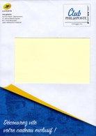 "FRANCE  PAP  Enveloppe  Prêt à Poster  MONTIMBRAMOI  Monde 250 Gr     ""  CLUB PHILAPOSTE   "" - Postal Stamped Stationery"