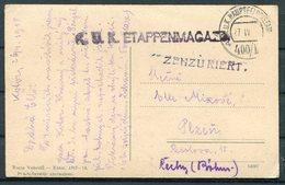 1918 Montenegro Postcard K.U.K. Etappenmagaz Austria Fieldpost Censor - Montenegro