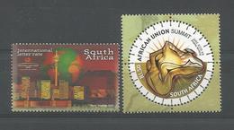 S. Africa 2002 Summit Y.T. 1207+1208 ** - Afrique Du Sud (1961-...)