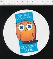 Autocollant Sticker Sécurité Domestique Hibou Oiseau 21ADH13 - Pegatinas