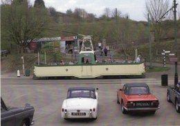Blackpool 'open Boat' 236  -  Triumph TR2 And TR6  -   Crich Village  -  CPM - Tramways
