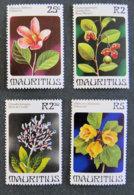 ILE MAURICE - MAURITIUS - 1981 - YT 519 à 522** - FLEURS - Mauritius (1968-...)